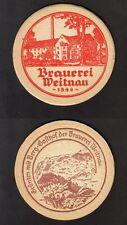 Kleiner alter BD - Bierdeckel - Coaster , Brauerei Weitnau ,Weitnau / Schwaben