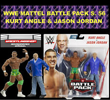 WWE MATTEL BATTLE PACK SERIE 56 KURT ANGLE & JASON JORDAN BASIC ELITE FIGURE RAW