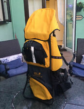 Baby Carrier Jack Wolfskin With Sunshade & Stirrups Watch Tower Deluxe Fabulous