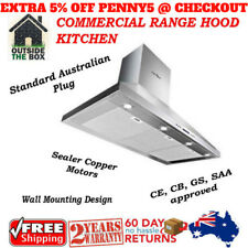 BBQ Rangehood 1200 Canopy Commercial Range Hood Kitchen Stainless 1200mm Silver