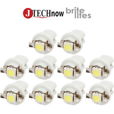 Jtech10 x T5 B8.5D Neo Wedge White Car Instrument Cluster Panel Lamps Gauge Bulb