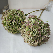 Natural Dried Hydrangea Large Flower Artificial Grass Plant Wedding Party Decor