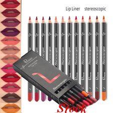 12PCS Waterproof Pencil Lipstick Pen Lip Liner Long Lasting Matte Makeup Set