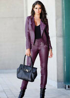 Brand New Women's Genuine Lambskin Leather Slim fit Skinny Leather Pants HL13
