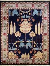 Rugstc 4.5x7 Pak Persian Blue  Rug, Hand-Knotted,Pictorial Hunting with Wool