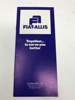 Vintage Fiat-Allis Brochure ConExpo Exhibit 1975 Construction Equipment