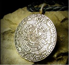 Aztec Mayan Sun Calendar Pendant Amulet Pendant Necklace