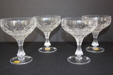 4 Cut Crystal Sherbet Dishes Wine Glasses Echt Bleikristall German Star Pattern