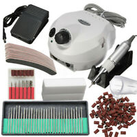 220V 30000RPM White Electric Manicure Pedicure False Nail Art File Drill Machine