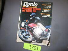 cycle magazine october 1981 kawasaki kz1000j xj550 250cr husqvarna xj650h