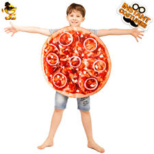 Unisex Kids Round Pizza Costume Delicious Pizza Cosplay Jumpsuit for Role Play