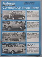 Austin Maxi V's Datsun, Fiat 124 & Ford Cortina GT comparison test