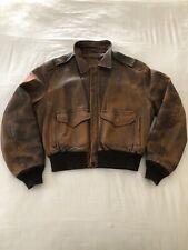 Schott NYC 233 Vintage Brown Distressed Lambskin Leather Jacket 48 Inch Like 184
