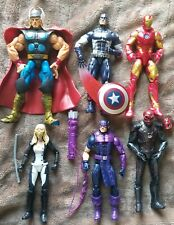 Marvel Legends Lot Hasbro Toybiz Captain America Iron Man Thor +3 more