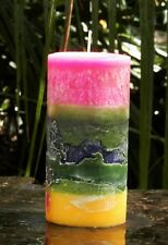 200hr ' LANDSCAPE ...PINK SKY ' Scented Layers TIE DYE ART CANDLE ... ONE ONLY