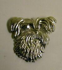 Scruffy Dog Head Silver Pin Detti Originals
