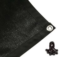 Shatex 90%Sun Shade Cloth with Grommets for Pergola Cover Canopy 10'x12' Black