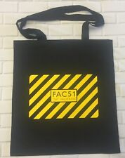 The Hacienda  - Fac 51 - Black Tote/Shopper Bag