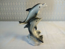 Pottery Ceramic Dolphin Sea Life Figurine Ornament Decor T.L