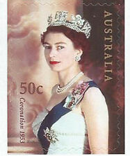 2003 Coronation Golden Jubilee 50c Self Adhesive Stamp:Muh