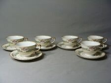 6 Meito China Orleans Shaped, Cups & 6 Saucers, Dexter Pattern, Occupied Japan
