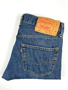 Levi's 501 Size 31 x 30 Straight Leg Blue Denim Jeans