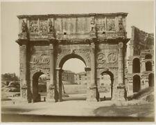 Photo Albuminé Arc de Constantin Rome Roma Italie Italia Vers 1870/80