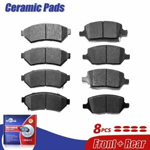 Front & Rear Ceramic Brake Pads For Buick Terraza Pontiac Montana Uplander Relay