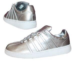 K-Swiss Classic VN Aged Foil Damen Sneaker Schuhe Freizeit Silber Metallic
