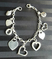 Vintage*STERLING SILVER~SWEET HEART*CHARM BRACELET*18cm Long*22grams*GORGEOUS*