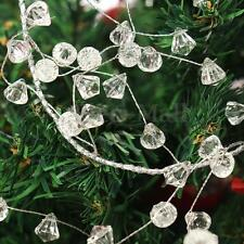 43.3″ Hanging Crystal Acrylic Beads Garland Party Christmas Tree Ornament Decor