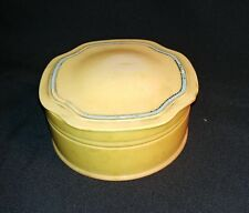Vintage Ivory DuBarry Pyralin Powder Box with lid Celluloid Vanity Organizing