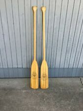 Vintage Set Of Apache Boat Oar Paddles Indian Head Sporting Goods Ridley Miss.