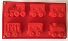Silicone Locomotive train Cupcake Muffin Mold Chocolate Jelly Cake Pan Tin Mould
