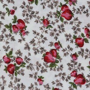 "1/2 Yard Vintage Fabric 35"" Wide x 18"" Novelty Strawberries"