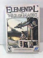 Elemental War of Magic AMR MBX PC NEW SEALED Fantasy Strategy Game STARDOCK **