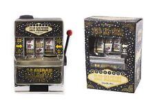 LAS VEGAS SLOT MACHINE ONE ARM BANDIT MONEYBOX PIGGY BANK SAVINGS POT