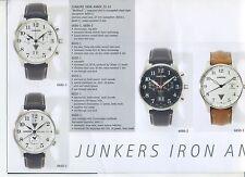 Publicité Montres Junkers Montre-bracelet chronomètre Iron Annie