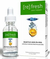 Refresh Skin Therapy Peel Salicylic Acid 2% Gentle Daily Professional BHA Acne