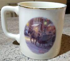 Thomas Kinkade Village Christmas 2000 Coffee Mug! Sticker intact! NWOB KN1677