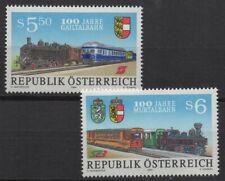 Austria 1994 Sc# 1647-1648 Mint MNH railway train Gailtal Murtal 100 year stamps