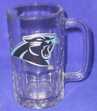 Carolina Panthers NFL Beer Mug with Metal Team Logo - SHIPPING INCLUDED