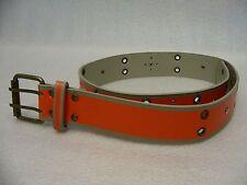 Naranja - Tachuelas con Ojales - Talla 29-3.8cm Cinturón