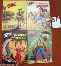 Lotto in Blocco 4 Tex Tre 3 stelle n 103 110 117 195 del 1980 1973 1972 original