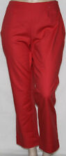 NEW Charter Club Plus 18W Slim It Up Slim Leg Pants with Side Slits MATTE CORAL