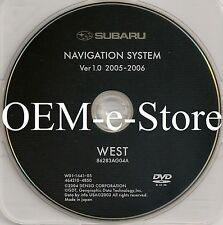 2006 2007 Subaru Tribeca B9 Outback Legacy Navigation OEM DVD WEST Coast Map 1.0