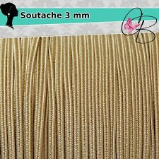 3 Metri Filato piattina soutache 3 mm colore Oro 18