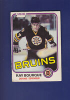 Ray Bourque HOF 1981-82 O-PEE-CHEE OPC Hockey #1 (VG) Boston Bruins