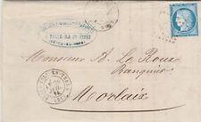 1871 LETTRE 25 c  BELLE ILE EN TERRE COTE D ARMOR