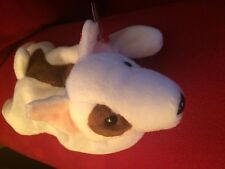 Beanie Baby Butch the Bull Terrier Spotted Eye Dog MINT Swing Tush Tag Errors